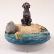 "German Short Haired Pointer Candle Topper Tiny One ""A Day on the Beach"""