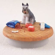 "Schnauzer Grey Candle Topper Tiny One ""A Day at Home"""