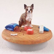 "Chihuahua Brindle & White Candle Topper Tiny One ""A Day at Home"""