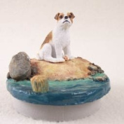 "Jack Russell Terrier Brown & White w/Smooth Coat Candle Topper Tiny One ""A Day on the Beach"""
