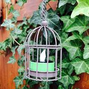 Hanging Wire Umbrella Dangler Mini Bird Cage Tea Light Holder