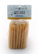 Bluecorn Naturals 100% Pure Beeswax Chanukah Candles (44 Hand Dipped Candles Per Bag)