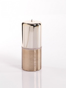 Tall Metallic Silver and Gold Split Candle