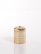 Zodax Metallic Candle with Glitter Brush, Gold