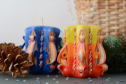 Set of Carved Candles