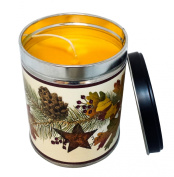 Falling Leaves Scented Candle in 380ml Tin with Fall Leaves Label - Made in the USA by Our Own Candle Company