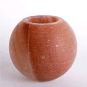 Himalayan Apple-Shaped Salt Candleholder