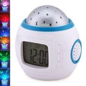 Joystar Sky Star Night Light Projector Lamp Bedroom Alarm Clock With music