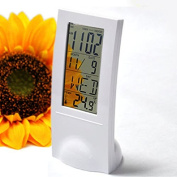 Sandistore Transparent LCD Digital Lndoor Temperature Metre Calendar Gauge Clock