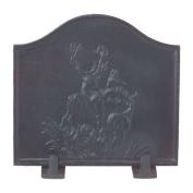 Black Cast Iron Deer Fireback - 60cm x 60cm