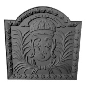 Black Cast Iron Medallion Fireback - 50cm x 50cm