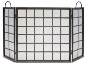 Pilgrim Home and Hearth 18228 Manor Tri Panel Screen, Distressed Bronze