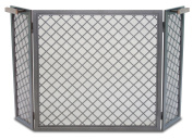 Pilgrim Home and Hearth 18227 Stanton Tri Panel Screen, Natural Iron