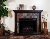 Sunny Designs K3486DC-50F Santa Fe Fireplace Media Console with Firebox