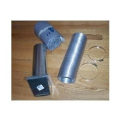 Napoleon 115KT 1.2m Insulated Outside Air Kit for Napoleon Wood Burning Stoves, NA