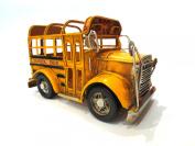 Vintage Looking Yellow School Bus Pen Holder
