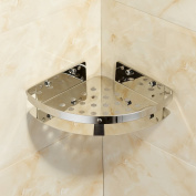 Marmolux Wall Mount Corner Holder Bathroom Shower Caddy Storage Shelf-Stainless Steel, Chrome