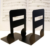A Pair of Music Theme Solid Metal Book Stand Bookends For Kids Music Lover Home Office Decoration