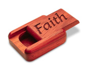 5.1cm Flat Narrow Padauk Secret Box - Faith