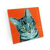 Set of 4 Grey Cat Coasters