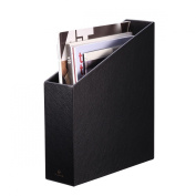 Vlando Home Office Leatherette Organiser Collection Magazine File Organiser Holder, Assorted Colour