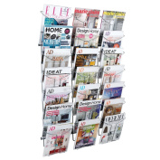Alba Chromed Wire Wall Literature Display - 21 Compartments