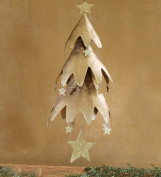 Golden Christmas Tree Mobile