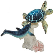 Glazed Blue Turtle and Dolphin