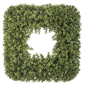 House of Silk Flowers Artificial Boxwood 60cm Square Wreath