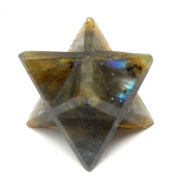 1 (ONE) Merkaba Star - Labradorite Merkabah Star - Chakra - Meditation - Metaphysical with Rock Paradise Exclusive Certificate of Authenticity