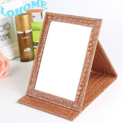 LOHOME(TM) PU Leather Case Small Travel Size Makeup Cosmetic Personal Beauty Folding Mirrors