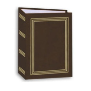 10cm x 15cm 1-UP 100 PHOTO MINI-MAX POCKET ALBUM - BROWN - Photo Album