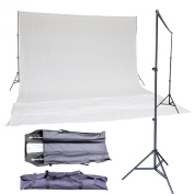 BlueDot Trading background-stand-white Photo Studio Background Support Stand System Kit, White