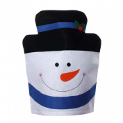 Yoyorule Christmas Snowman Chair Covers Home Decoration