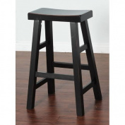 Sunny Designs 1769VB Vintage Black Saddle Seat Stool, 30H