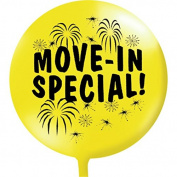 Move In Special Balloon, Yellow