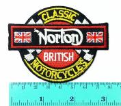 3 Patch Norton British Super Bikes Motorcycle Biker Motorcycles Motorsport Racing Logo Patch Sew Iron on Jacket Cap Vest Badge Sign