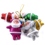 Lookatool® 6PC Colourful Christmas Santa Claus Party Ornaments Xmas Tree Hanging Decoration