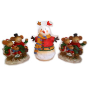 TII Collections Christmas Holiday Resin Figures Assrt Gift Bundle [3 Piece]