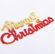 red cherry 25cm merry christmas sign christmas decorations-red
