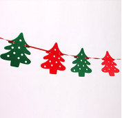 red cherry 2.2m green and red christmas tree decoration garland