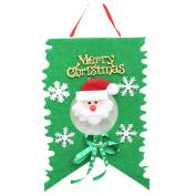 Yoyorule 1pc Christmas Decoration Home Bunting Banner Garland Props Santa Flag