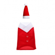 Yoyorule Wine Bottle Cover Bags Decoration Home Party Santa Claus Christmas