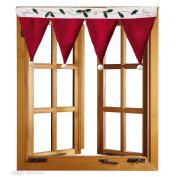 Sandistore Door Window Drape Panel Christmas Curtain Decorative Home