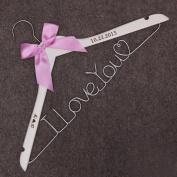 I Love you Dress Hanger Valentines Day gifts Mrs.Name Hanger -Heart Shape WIre Hanger Custom personalised Wedding Hanger wedding wire hanger gift