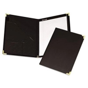 """Samsill - Pad Holder Leather Look W/Brass Corners Writing Pad Pockets Black """"Product Category"""