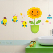 Ac2Shop 2 In 1 Creative Wall Sticker And Hanging Storage Box With Hooks Home D.cor, Happy Bee