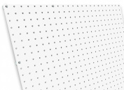 diamondLife HPB2448.G.WHT PegBoard X2, 60cm x 120cm , White
