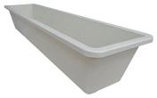 MFG Tray 1104085232 Toteline Nesting Container, Glass Fibre Reinforce, Plastic Composite, 80cm x 20cm x 15cm , White