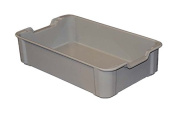 MFG Tray 8190085136 Toteline Stacking Container, Glass Fibre Reinforce, Plastic Composite, 45cm x 27cm x 11cm , Grey